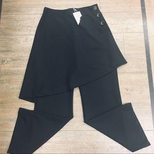 NWT Zara skirt pants wide leg L